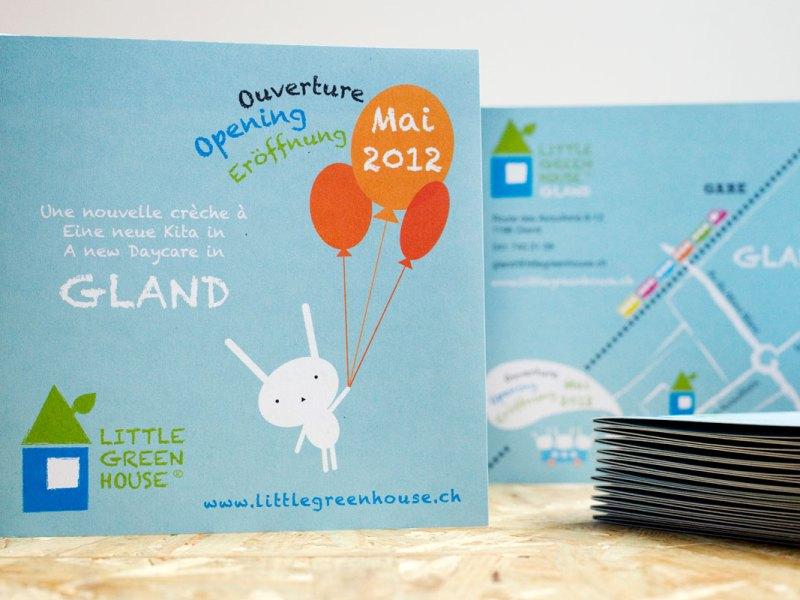 Gland création flyers crèche Little Green House