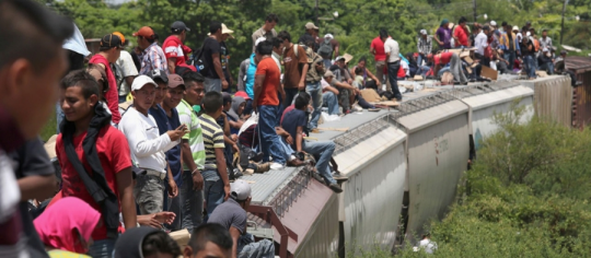 Central Americans on Train