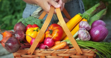 basket of healthy fruits and vegetables