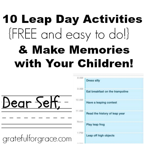 Leap Day Activities Collage WEB