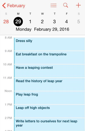 Leap Year Activities 2016