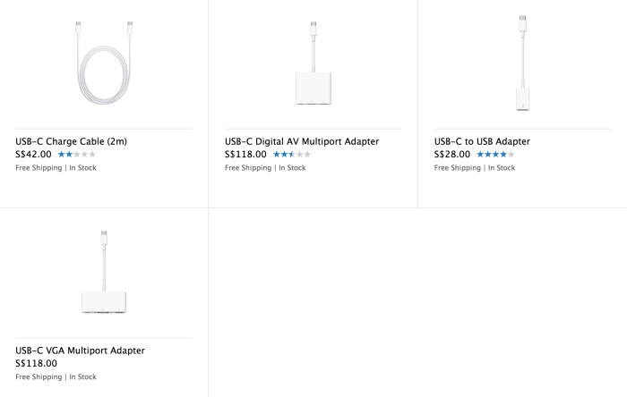 Additional adapters don't come cheap