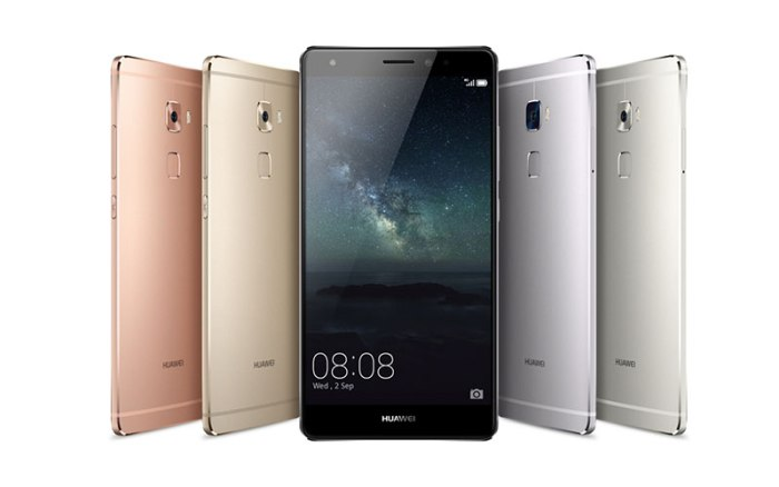 Huawei Mate S colour options