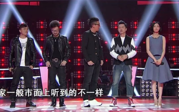 Ma Yinyin and Huang Yong in The Voice of China 4 episode 11