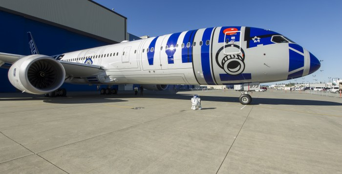 From reel to real - the R2-D2 brought to life with ANA's striking new livery (Image: Changi Airport Group)