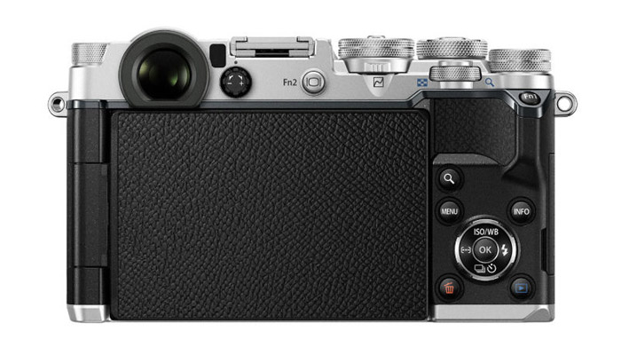 Back view of the Olympus Pen-F
