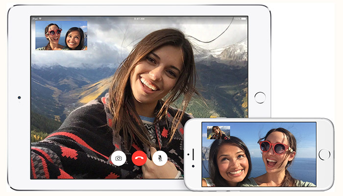 Apple FaceTime screenshots in apps for free voice and video calls feature