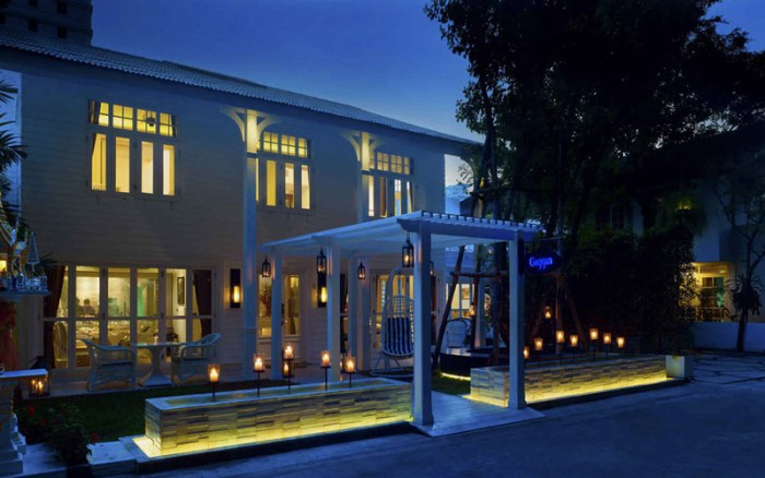 Exterior view of Gaggan restaurant in Bangkok