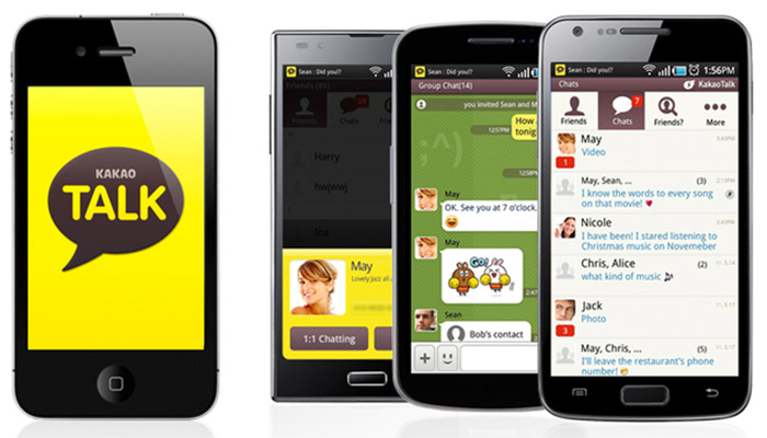 KakaoTalk screenshots in apps for free voice and video calls