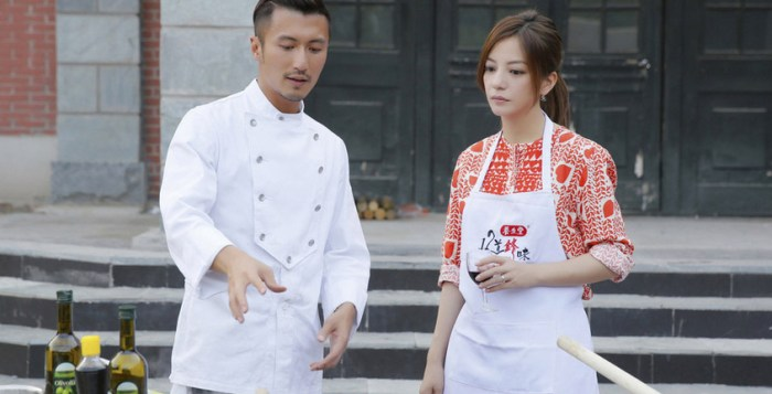Nicholas Tse with Vicki Zhao on Chef Nic