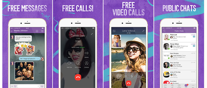 Viber screenshots in apps for free voice and video calls feature