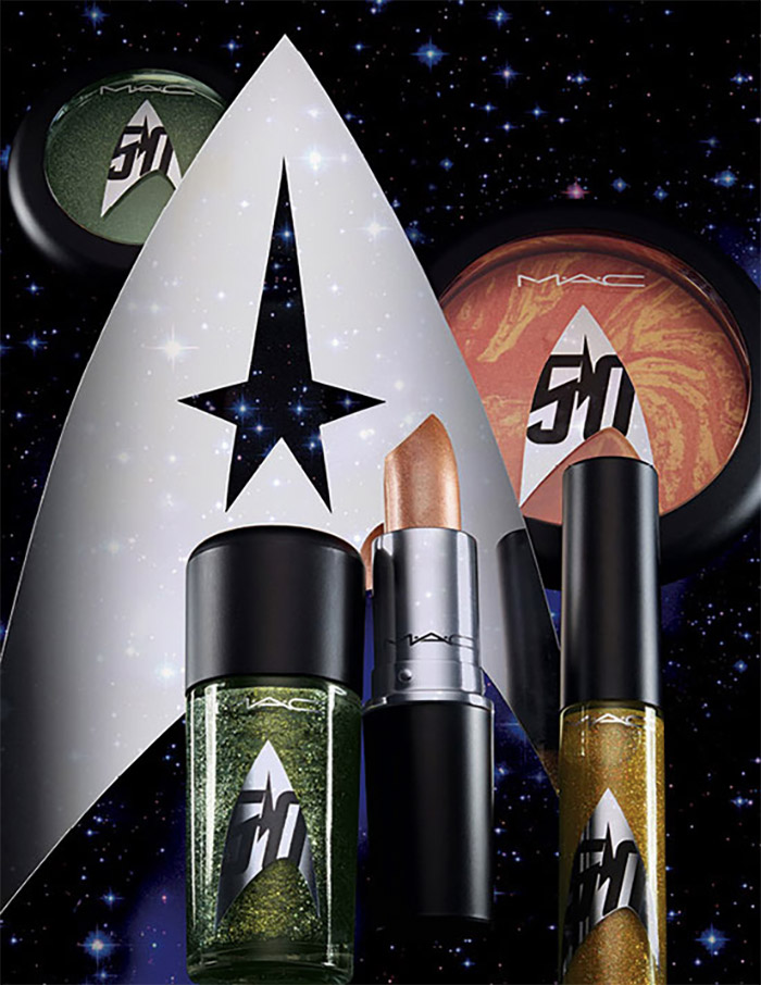 star trek-themed makeup by MAC