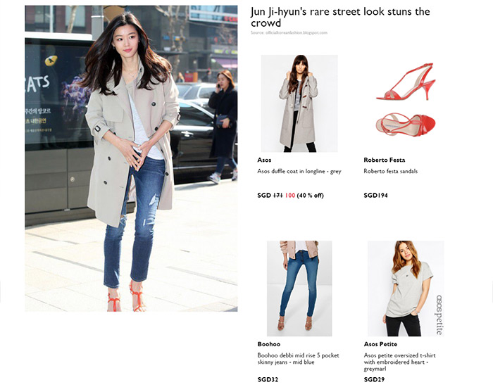 Goxip website screenshot showing celebrity Jun Ji-hyun