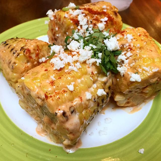 Sweet corn chargrilled with cotija cheese