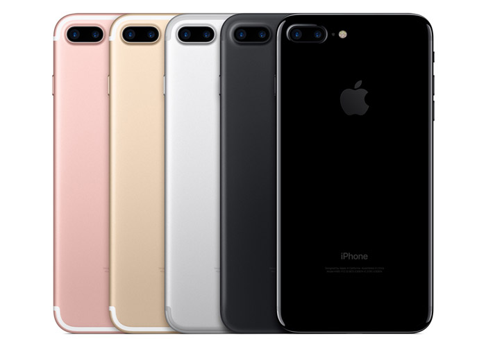 iPhone 7 Plus lineup and colours
