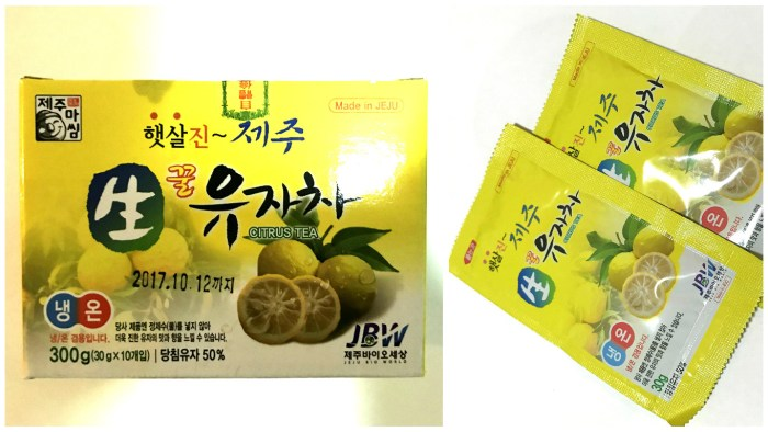 citron tea from Jeju