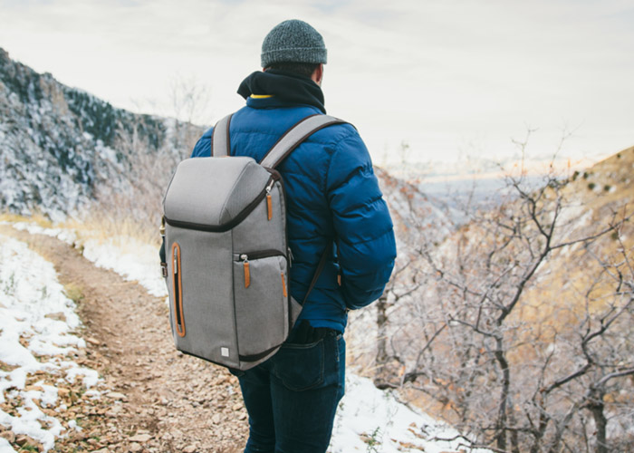 Moshi Arcus Backpack in Titanium Gray