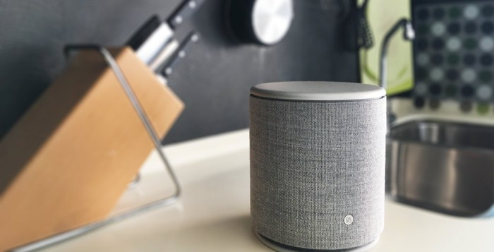 B&O Beoplay m5 on kitchen top