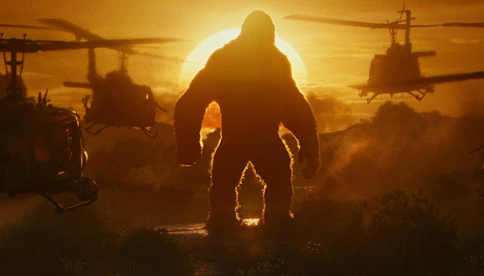 Helicopters and Kong is kinda iconic in all King Kong movies