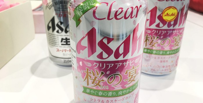 Clear Asahi Sakura - Limited Edition drink to celebrate Asahi's 30th Anniversary