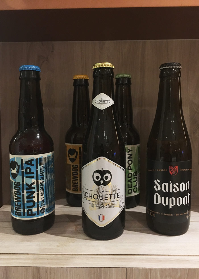 Imported beers from KARA cafe and dessert bar