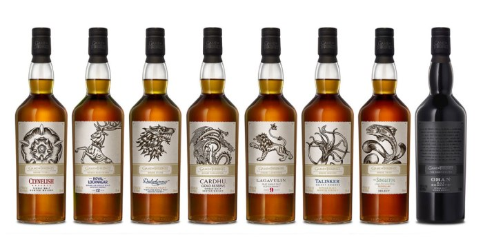 Game of Thrones releases 8 Scotch Whiskies for Season 8