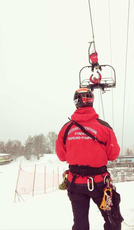 Manœuvre GSMSP et reportage sapeurs-pompiers en montagne @ Guzet