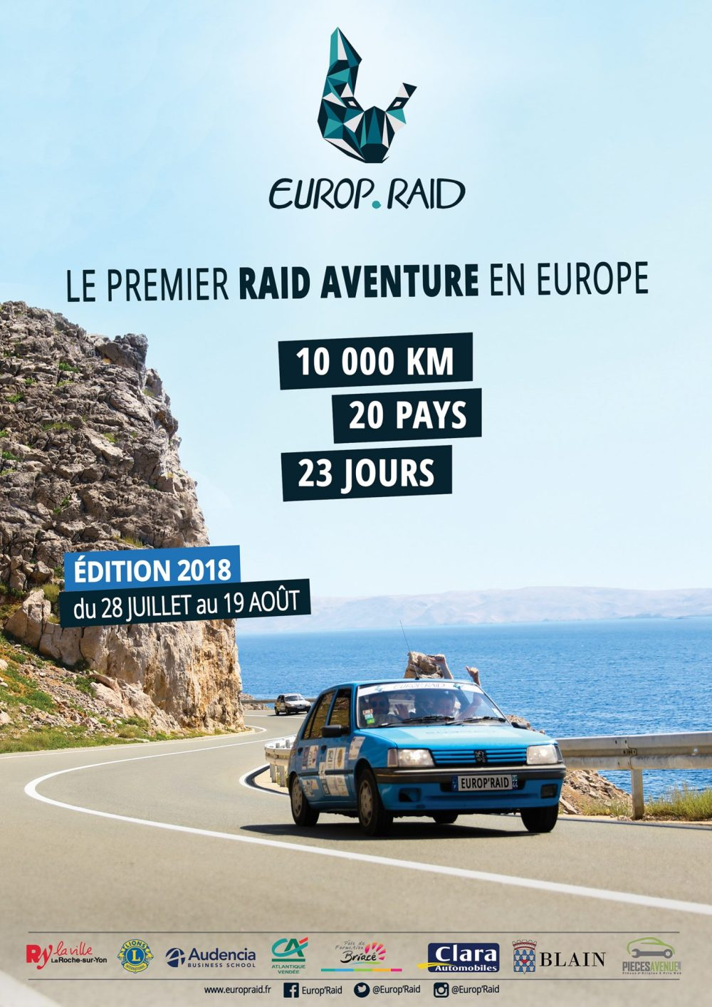 20 pays - 23 jours à bord de Peugeot 205 : l'Europ.Raid @ 20 pays de l'Europe