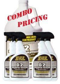 D2 Biological Solution 1 Gallon Bottle with 4-32 oz Quarts D2 Biological Solution Combo with Save $