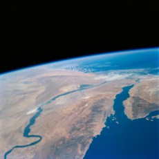 <strong>River Nile Satellite View</strong>