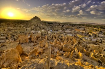 Shali Fortress Sunset