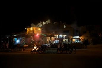 Shali Fortress at night