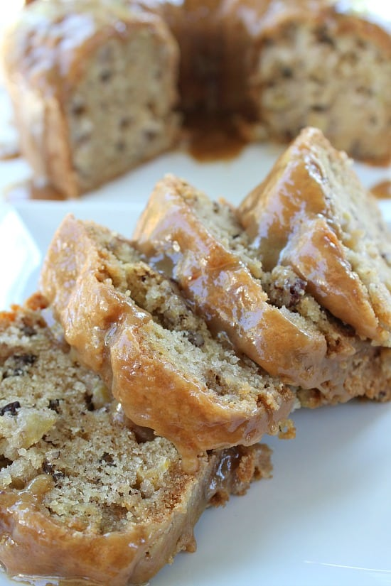 Apple Pecan Cake with Caramel Glaze - Great Grub, Delicious Treats