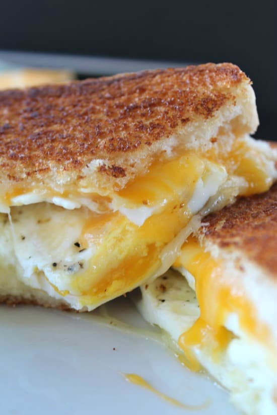 Grilled Cheese Sandwiches with a Fried Egg Grilled Cheese Lunch Recipes