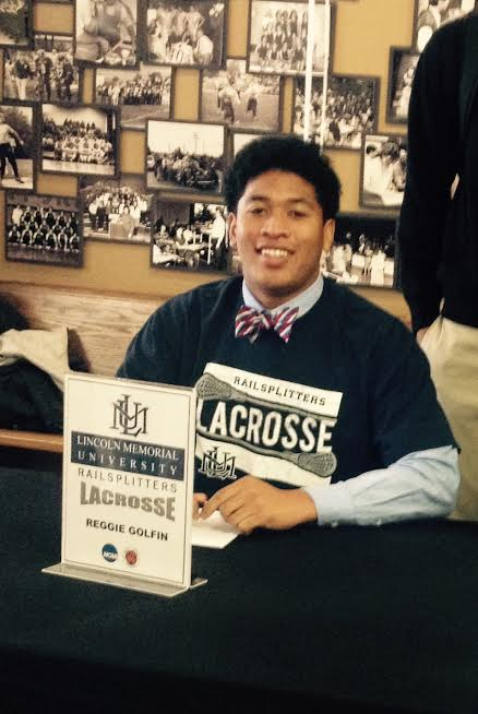 Reggie Golfin signs with Lincoln Memorial University (Photo courtesy Chris Southerland)