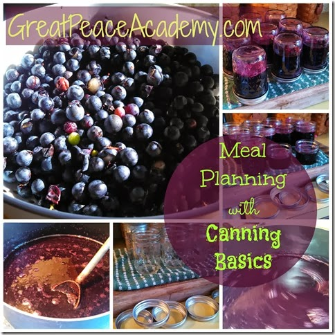 Meal Planning with Canning Basics