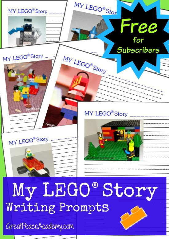 Free LEGO Learning Printables Story Writing Prompts for Subscribers | Great Peace Academy