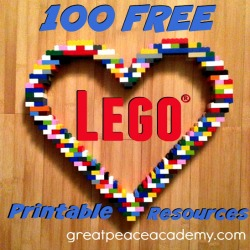 Free Lego Printable Resources   Great Peace Academy