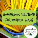 Homeschool Solutions for Worried Moms   GreatPeaceAcademy.com #ihsnet #homeschool