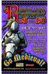 2010 Fall Great Plains Renaissance Festival Poster