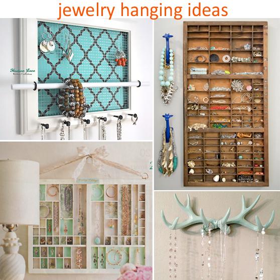 jewelry hanging ideas