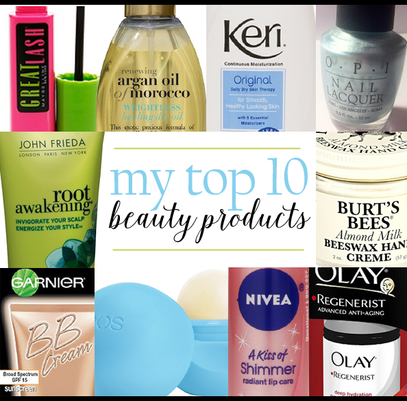 Top 10 beauty products montage