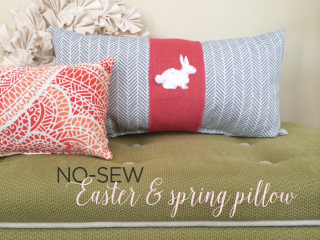 easter pillow detail