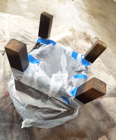 stool with bag
