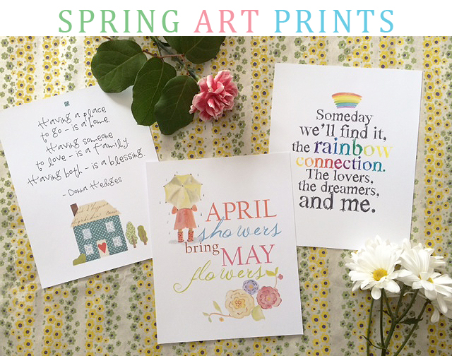 spring art prints