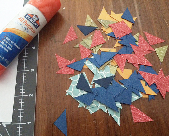 cut paper initial_triangles