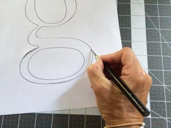 cutting monogram template