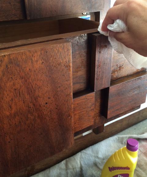 mid century dresser_polish