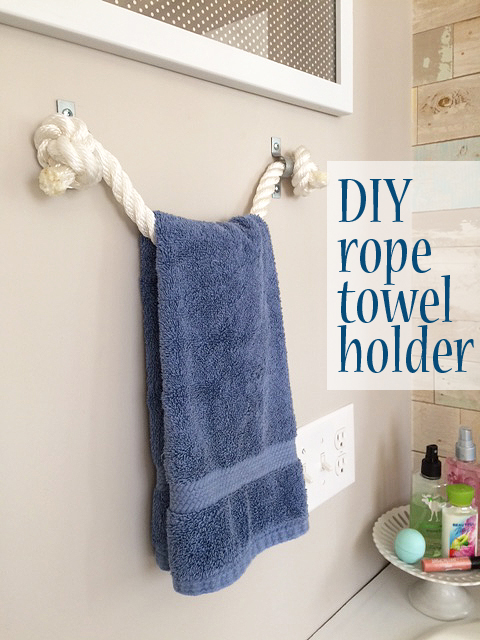 DIY rope towel holder