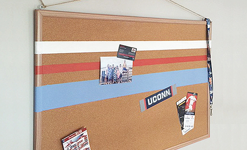 Easy wall art ideas chapter one painted cork board for Painted cork board ideas